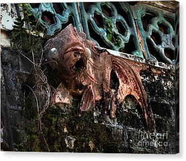Forgotten Please Restore Me Goldfish Canvas Print by Kathy Daxon