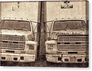 Forgotten Trucks Canvas Print