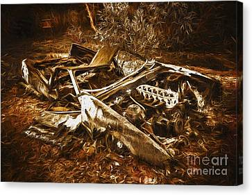 Forgotten Wheels Of Yesterday Canvas Print by Jorgo Photography - Wall Art Gallery