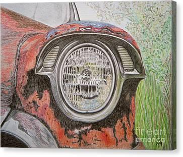 Forgotten Wreck Canvas Print by Yvonne Johnstone