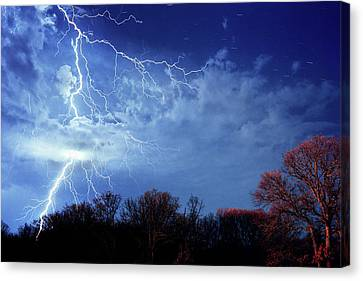 Forked Lightning Canvas Print