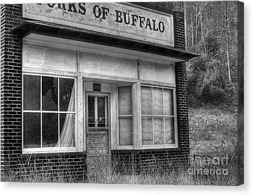 Forks Of Buffalo Canvas Print by Pete Hellmann