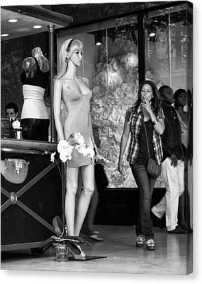 Street Shot Canvas Print - Form Check - Mannequin - Street Shot by Nikolyn McDonald