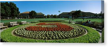 Formal Garden At The University Campus Canvas Print by Panoramic Images