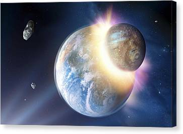 Formation Of The Moon, Artwork Canvas Print
