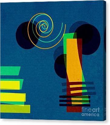 Formes - 03b Canvas Print by Variance Collections