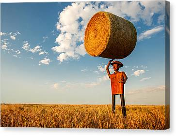 Formidable Farmer Canvas Print by Todd Klassy