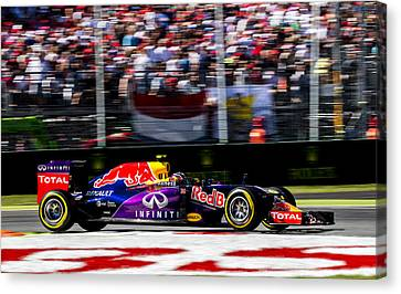 Formula 1 Monza Red Bull Canvas Print by Srdjan Petrovic