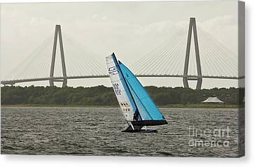Formula 18 Sailing Cat Big Booty Charleston Sc Canvas Print by Dustin K Ryan
