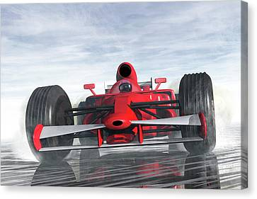 Formula One Racer Canvas Print by Carol and Mike Werner