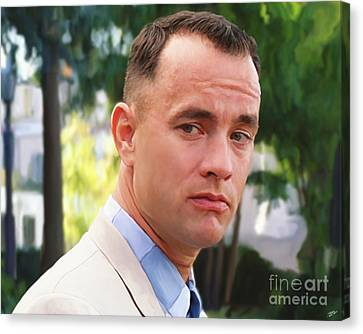 Forrest Gump Canvas Print by Paul Tagliamonte