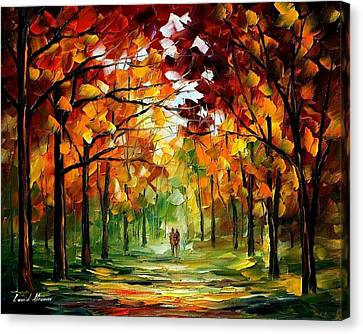 Forrest Of Dreams Canvas Print by Leonid Afremov