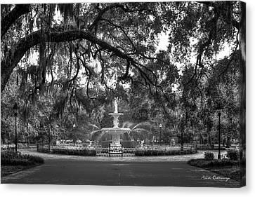 Forsyth Park Fountain 2 Savannah Georgia Art Canvas Print by Reid Callaway