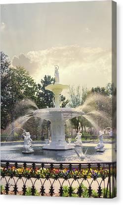 Architectur Canvas Print - Forsyth Park Fountain - Savannah by Paulette B Wright
