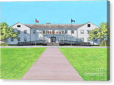 Fort Campbell Garrison Headquarters Canvas Print by T Franz