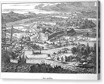 Fort Caroline, 1673 Canvas Print by Granger