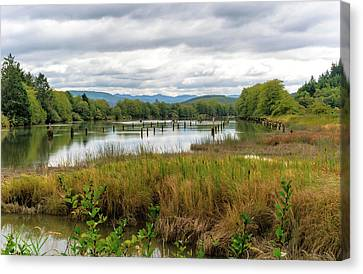 Canvas Print featuring the photograph fort Clatsop on the Columbia River by Michael Hope