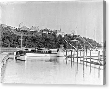 Canvas Print featuring the photograph Fort George Amusement Park by Cole Thompson