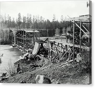 Fort George Wright Bridge - Spokane 1927 Canvas Print by Daniel Hagerman