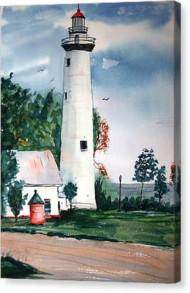 Fort Gratiot Lighthouse Michigan Canvas Print by Larry Hamilton