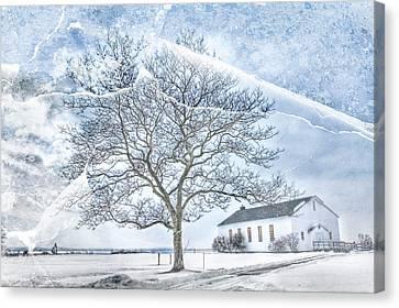 Fort Hancock Chapel Canvas Print