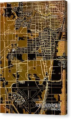 Fort Lauderdale 1949 Map Canvas Print