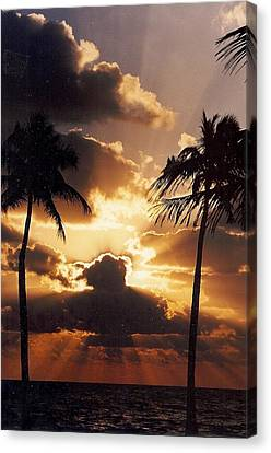 Canvas Print featuring the photograph Fort Lauderdale Beach by Denise Moore