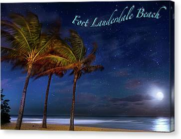 Fort Lauderdale Beach Greeting Canvas Print by Mark Andrew Thomas
