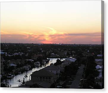 Fort Lauderdale Sunset Canvas Print by Patricia Piffath