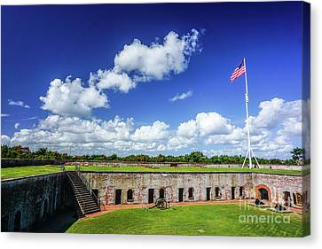 Fort Macon State Park Canvas Print by Liesl Marelli