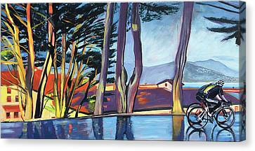 Fort Mason Bike Commute Canvas Print by Colleen Proppe