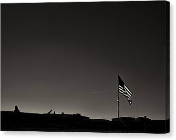 Fort Mchenry Canvas Print by Geoffrey Baker