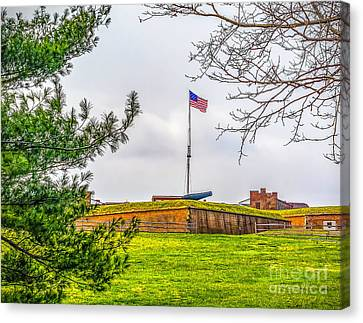 Canvas Print featuring the photograph Fort Mchenry National Monument  by Nick Zelinsky
