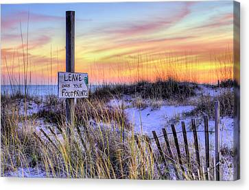 Canvas Print featuring the photograph Fort Morgan Sunsets by JC Findley