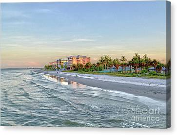 Fort Myers Beach Pier View 2011 Canvas Print