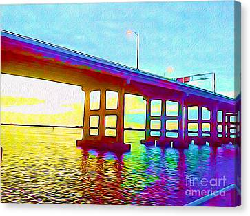 Fort Myers Bridge Canvas Print by Chris Andruskiewicz