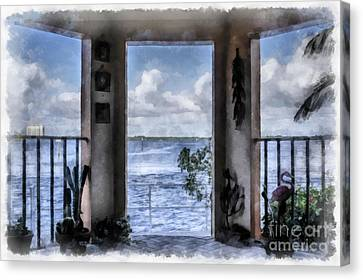 River View Canvas Print - Fort Myers Florida by Edward Fielding