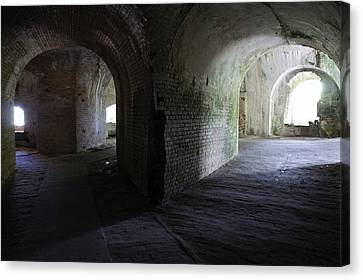 Fort Pickens Corridor 2 Canvas Print by Laurie Perry