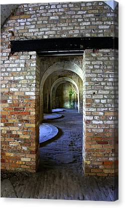 Fort Pickens Interior Canvas Print by Laurie Perry
