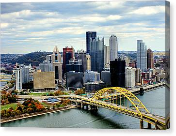 Canvas Print featuring the photograph Fort Pitt Bridge by Michelle Joseph-Long