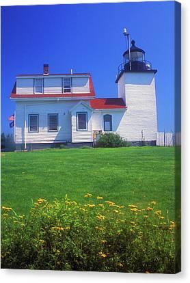 Fort Point Lighthouse Stockton Springs Canvas Print by John Burk