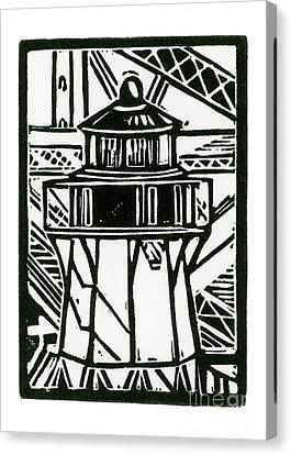 Fort Point Lighthouse Canvas Print by Tom Taneyhill