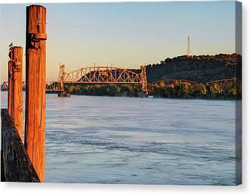 Fort Smith Arkansas River Bridge Canvas Print by Gregory Ballos