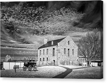 Canvas Print featuring the photograph Fort Smith Historic Site by James Barber