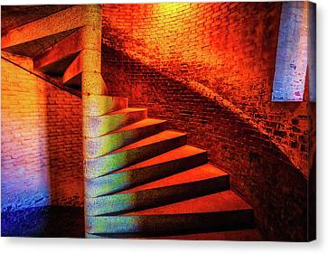 Fort Staircase Canvas Print by Garry Gay