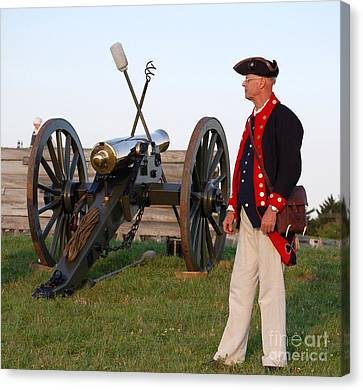 Fort Stanwix Cannon Ready Canvas Print by Diane E Berry