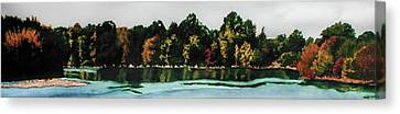 Fort Toulouse Coosa River Canvas Print by Beth Parrish