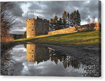 Fort William Henry Reflection Canvas Print by Benjamin Williamson