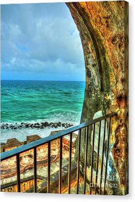 Fort Window View Canvas Print