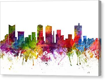 Fort Worth Cityscape 06 Canvas Print